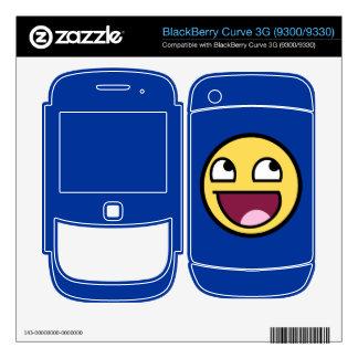 Piel impresionante de la curva de Blackberry de la Calcomanía Para BlackBerry