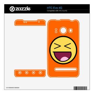 Piel impresionante feliz de HTC Evo 4G de la cara Skins Para elHTC Evo 4G