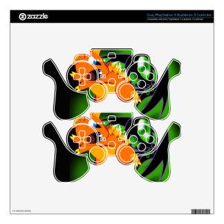 Piel inalámbrica del regulador de BKB PS3 Skins Para Mando PS3