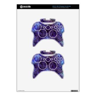 Piel inalámbrica púrpura abstracta del regulador d mando xbox 360 skin