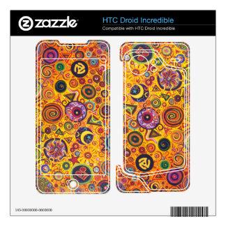 Piel increíble de HTC Droid de la fiesta HTC Droid Incredible Skin