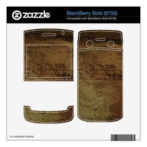 Piel intrépida cuneiforme sumeria babilónica de Bl BlackBerry Calcomanía