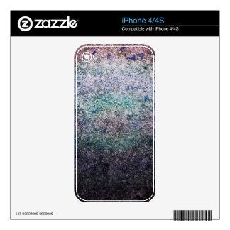 Piel iridiscente fresca del Grunge para iPhone4 Skin Para El iPhone 4