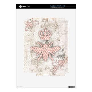 Piel lamentable de la abeja reina del vintage iPad 2 skins