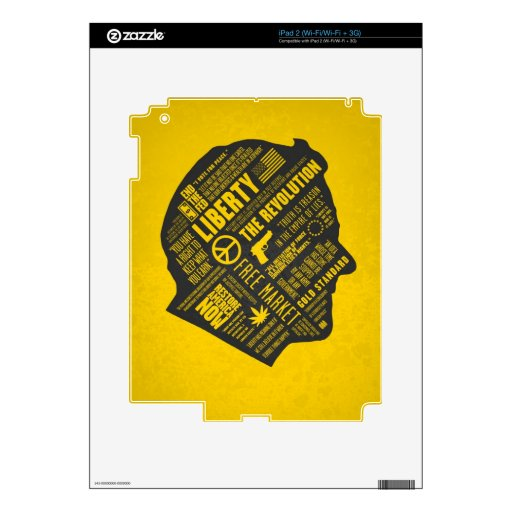 Piel libertaria del iPad 3 del pensamiento abstrac Skin Para El iPad 2