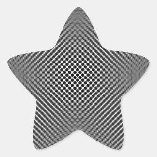 Piel ligera de la fibra de carbono pegatinas forma de estrellaes