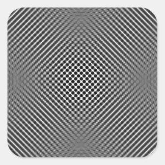 Piel ligera de la fibra de carbono calcomanía cuadradas