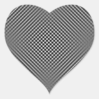 Piel ligera de la fibra de carbono calcomanías de corazones personalizadas