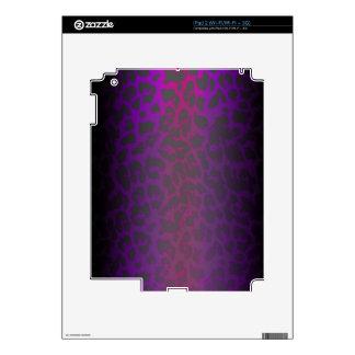 Piel ligera negra del leopardo iPad 2 skin