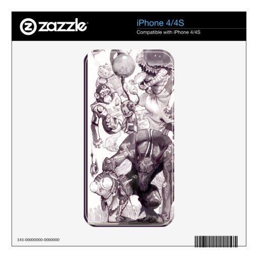 Piel loca del iPhone 4/4S del Critter iPhone 4 Skins