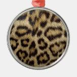 Piel manchada del leopardo ornamentos para reyes magos
