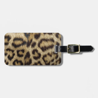 Piel manchada del leopardo etiquetas para maletas