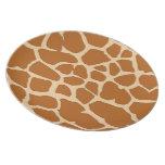 piel marrón de la jirafa platos