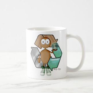 Piel marrón del reciclador tazas