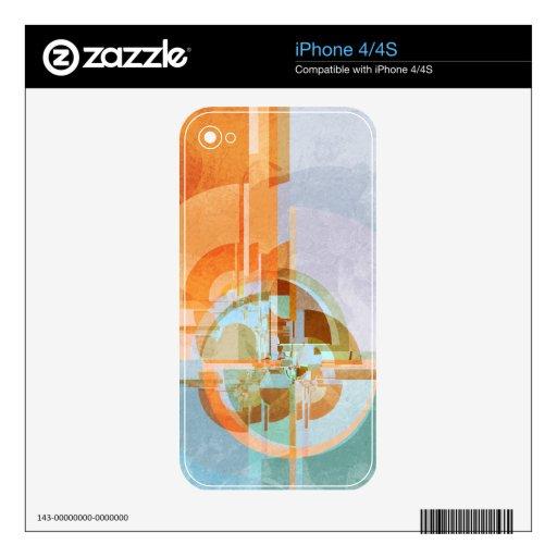 Piel moderna del iPhone 4/4S Zazzle del auge iPhone 4S Calcomanías