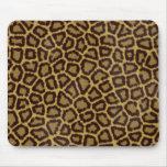 Piel Mousepad del leopardo Tapetes De Ratón