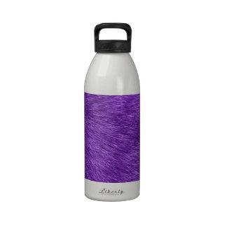 Piel mullida (Pelage) - textura ascendente cercana Botella De Agua