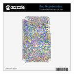 Piel multicolora del tacto de iPod del remolino (4 iPod Touch 4G Skin