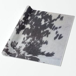 Piel natural de la imitación de cuero de la vaca papel de regalo