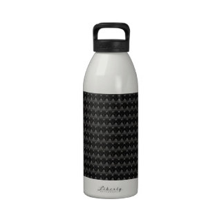 Piel negra del extranjero de la fibra de carbono botella de agua