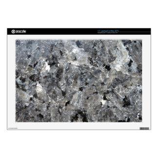 Piel negra del ordenador portátil del granito de l skins para 43,2cm portátil