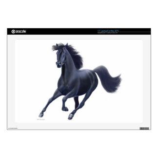Piel negra galopante del ordenador portátil del ca calcomanía para 43,2cm portátil