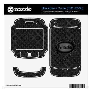 Piel negra y gris de la curva de Blackberry del vi BlackBerry Curve Calcomanía