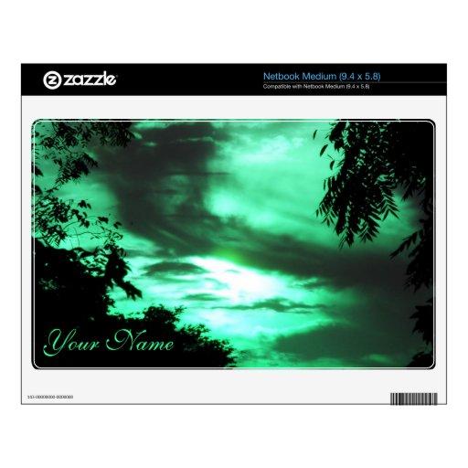 Piel nublada verde de Netbook del cielo Netbook Skin
