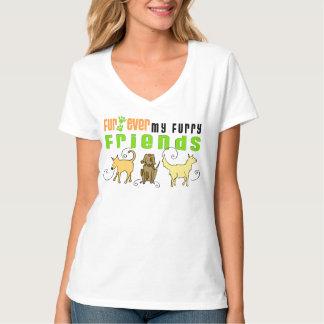 Piel nunca mi camisa peluda del perro de los