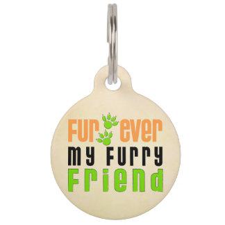 Piel nunca mi etiqueta del mascota del perro del identificador para mascota