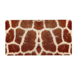 Piel original de la jirafa etiqueta de envío