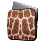 Piel original de la jirafa fundas computadoras