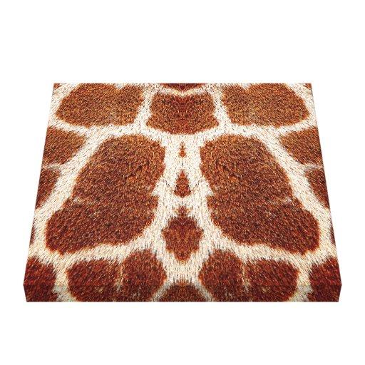 Piel original de la jirafa impresión de lienzo