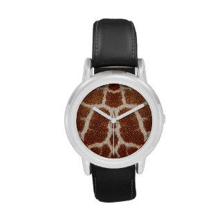Piel original de la jirafa relojes