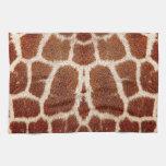 Piel original de la jirafa toallas