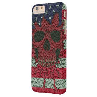 Piel patriótica americana de la bola del funda de iPhone 6 plus barely there