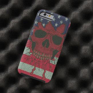 Piel patriótica americana de la bola del funda de iPhone 6 tough