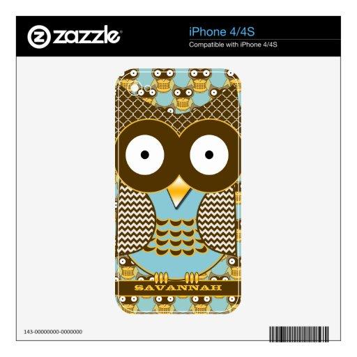 Piel personalizada Brown linda del iPhone de la ag iPhone 4 Calcomanías
