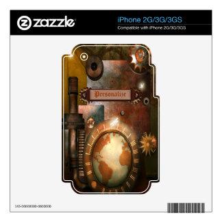 Piel personalizada del iPhone 2G 3G 3GS de Steampu iPhone 3 Skin