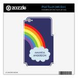 Piel personalizada del tacto de iPod del arco iris iPod Touch 4G Skin