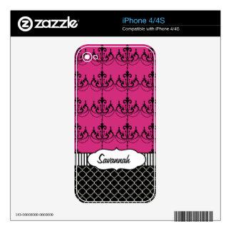 Piel personalizada lámpara rosada del aire de calcomanía para iPhone 4S