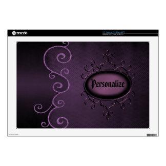 Piel personalizada vintage gótico púrpura del orde skins para 43,2cm portátil