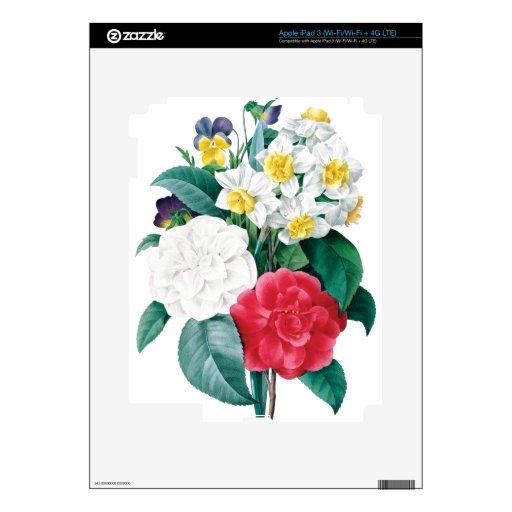 Piel preciosa del vinilo del iPad 3 del ramo Pegatinas Skins Para iPad 3
