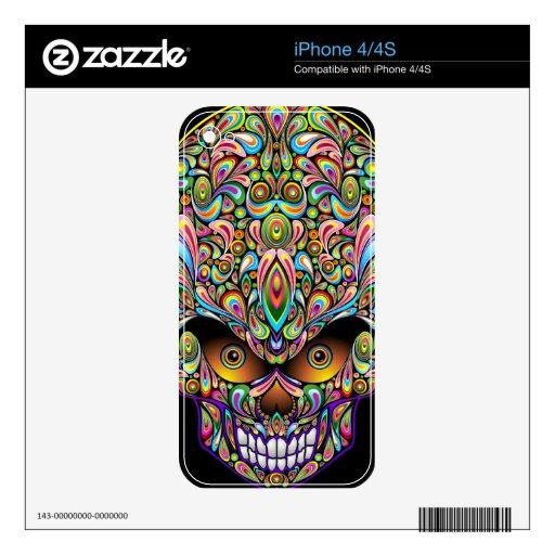 Piel psicodélica del iPhone 4/4S del diseño del ar Skins Para iPhone 4