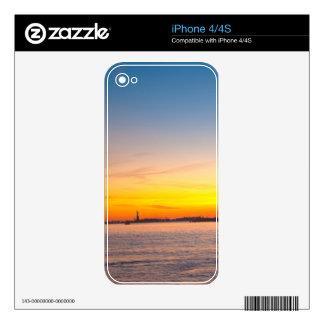 Piel: Puesta del sol de New York City Skins Para iPhone 4