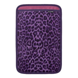 Piel púrpura apasionada del leopardo fundas macbook air
