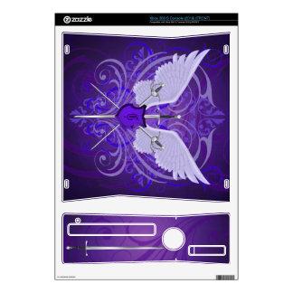 Piel púrpura coa alas urbana de Xbox de las espada Calcomanía Para Xbox 360 S