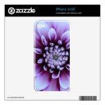 Piel púrpura de la flor skins para eliPhone 4S