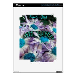 Piel púrpura del iPad 3 de la turquesa de la fanta Pegatina Skin Para iPad 3