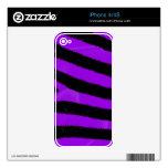 Piel púrpura del iPhone 4/4S de la cebra Calcomanías Para El iPhone 4S